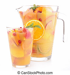 fruit juice cocktail isolated