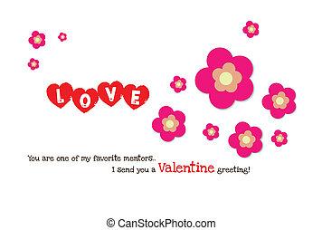 valentine flower heart card