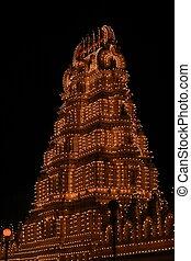 Mysore palace lighting-XXXIV - A beautiful lighting of...
