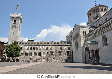 Piazza Duomo Trento - Piazza Duomo and Torre Civica in...