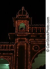 Mysore palace lighting-XX - A beautiful lighting of a Mysore...