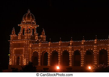 Mysore palace lighting-XII - A beautiful Mysore palace...