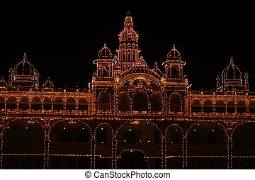 Mysore palace lighting-VIII - A beautiful Mysore palace...