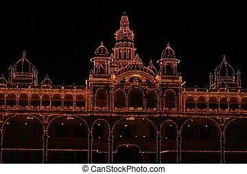 Mysore palace lighting-VIII - A beautiful Mysore palace...