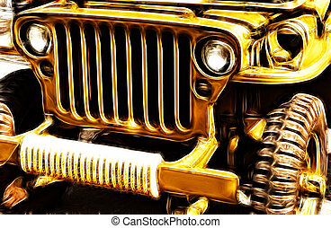 Army Jeerp - Abstract image of an military jeep
