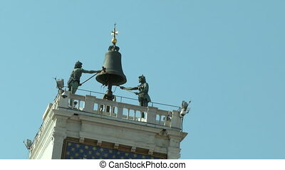 Torre Orologio - Clock tower at San Marco Square, Venice...