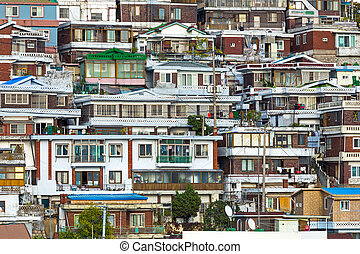 Residential area in Seoul