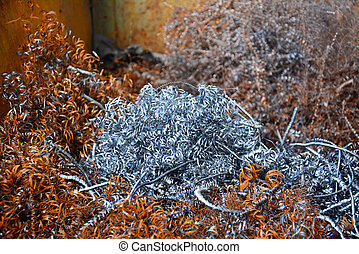 Metal cuttings from manufacturing process