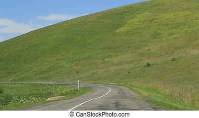 Travel along the scenic Altai Krai. Russia.