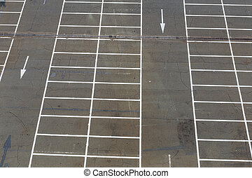 Empty outdoor car park