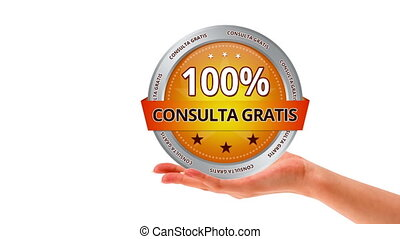 Free Consultation In spanish - A person holding a Free...