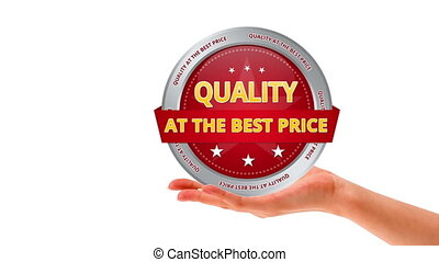 Quality at the best price - A person holding a Quality at...