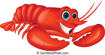 Cute lobster cartoon - Vector illustration of Cute lobster...