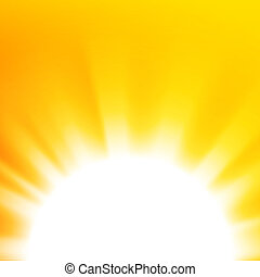 Abstract background with orange sun
