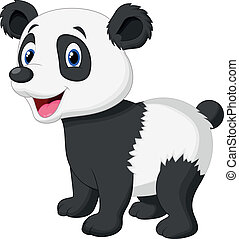 Cute panda bear cartoon - Vector illustration of Cute panda...