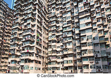 Hong Kong old residential building