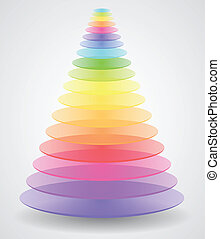 Color Pyramid - Abstract Vector Pyramid