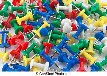 Push Pins - Close up of push pins