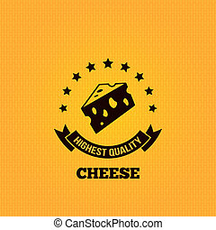 cheese vintage label design background 10 eps