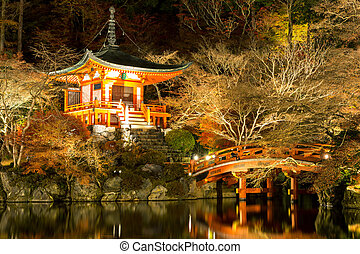 Daigoji Temple Kyoto Japan night - Daigoji Temple Shingon...