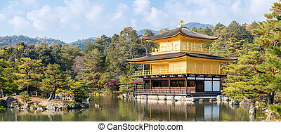 Golden temple panorama - Panorama landscape of Golden...