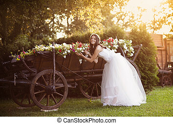 Countryside bride - Beautiful bride in country style wedding...