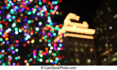 Holiday Tree with Colorful Lights - Holiday Christmas Tree...