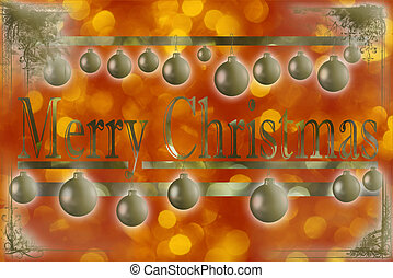 Christmas gretting card - Traditional Christmas card with...