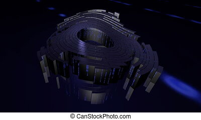data packet - Abstract Animation on computer technology -...
