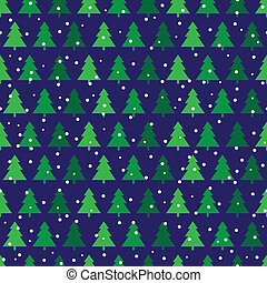 Pine trees - Seamless pattern made of illustrated pine trees...