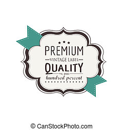 premium label - abstract premium label on a white background