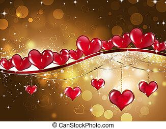 Golden Saint Valentine Greeting Card