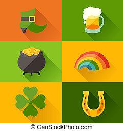 Saint Patricks Day background in flat design style