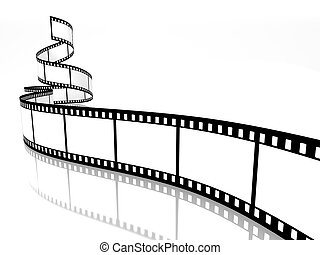 film strip - empty film strip on white background