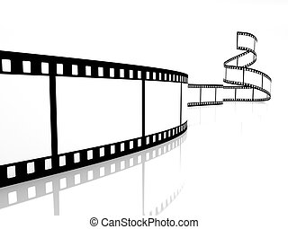 film strip image on white background