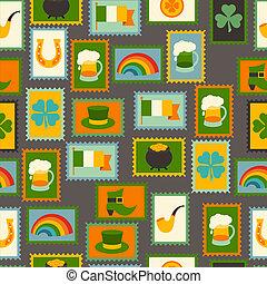 Saint Patricks Day seamless pattern