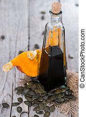 Portion of Pumpkin Seed Oil - Small portion of Pumpkin Seed...