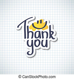 Thank You inscription, hand drawn vector illustration