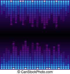 Blue and purple digital equalizer background RGB EPS 10...