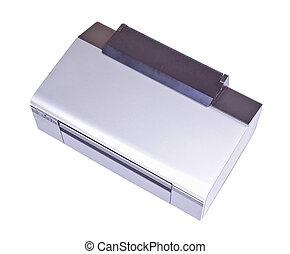 Inkjet printer isolated over white