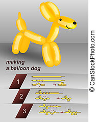 Making a balloon dog manual