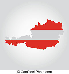 Austria - abstract Austria flag on a white background