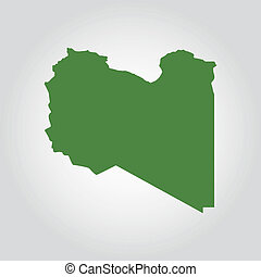 Libya - Abstract Lybia flag on a white background