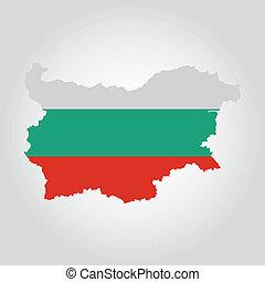 Bulgaria - abstract Bulgaria flag on a white background