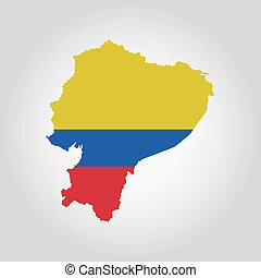 Ecuador - abstract Ecuador flag on a white background