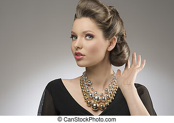 elegant lady with creative hair-style