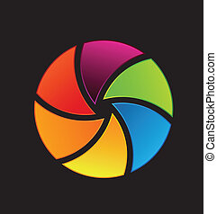 Vector Colorful Shutter Icon