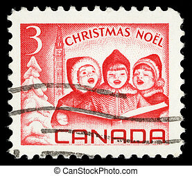 Postage stamps printed in Canada, depicts Singing Children...