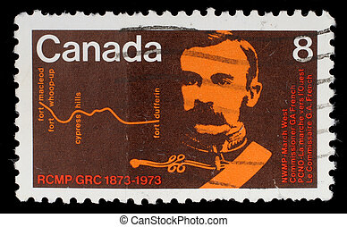 A stamp printed by Canada, shows Commissioner G. A. French -...