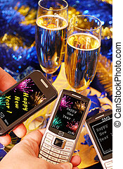 sending sms for New Year - sending sms and mms with New...